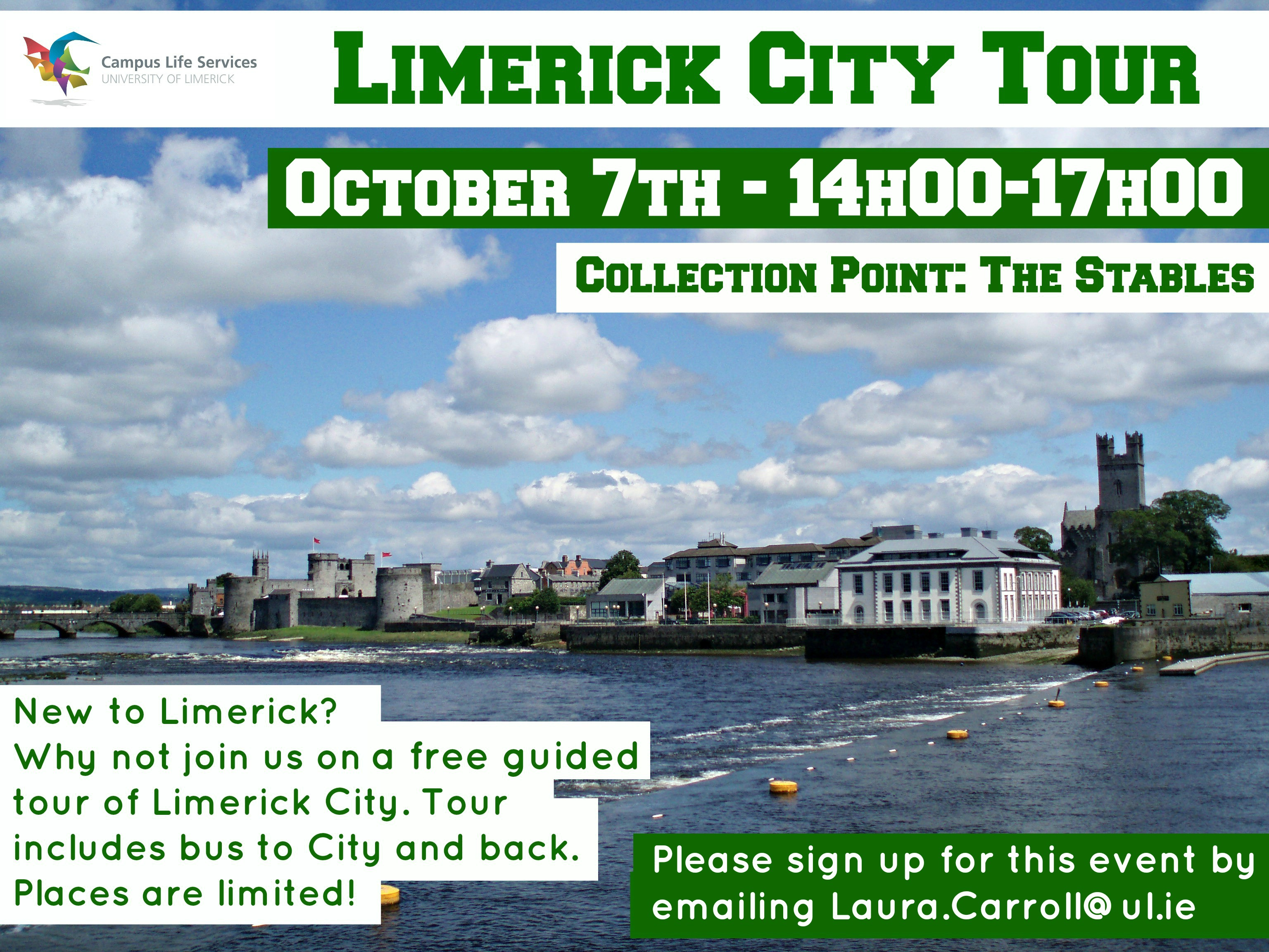 Campus Life Programme Walking Tour of Limerick