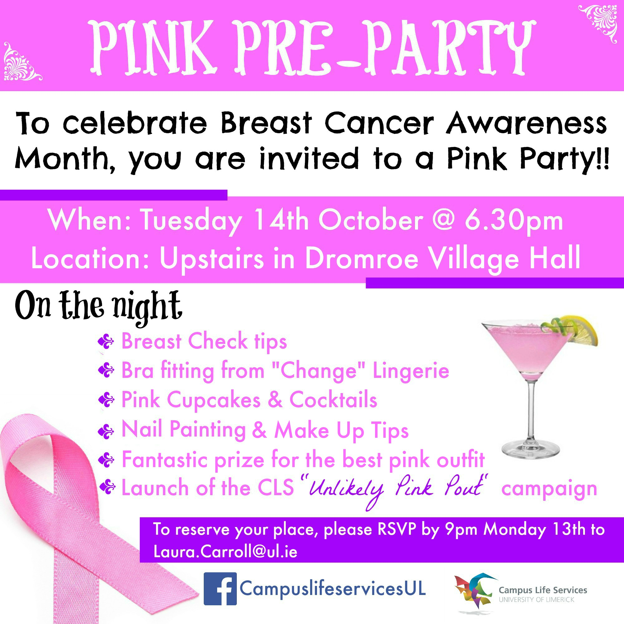 Breast Cancer Awareness 'Pink Party'!