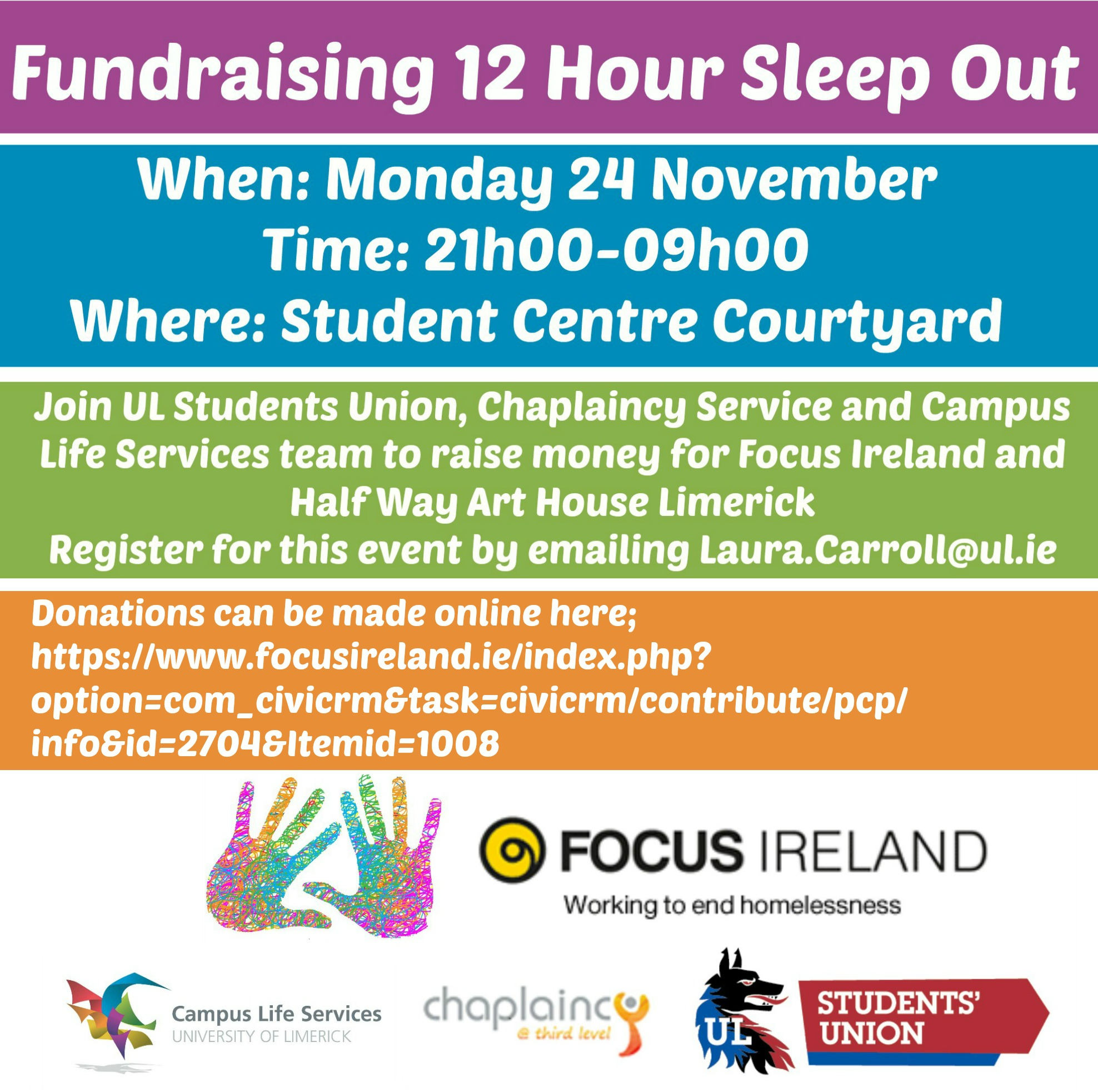 Annual Fundraising 12 Hour Sleep Out!