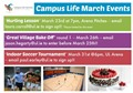 Campus Life March Events
